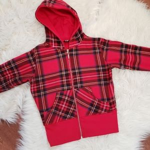 🆕️3/$30❣TMT Plaid Zip-Up Hoody